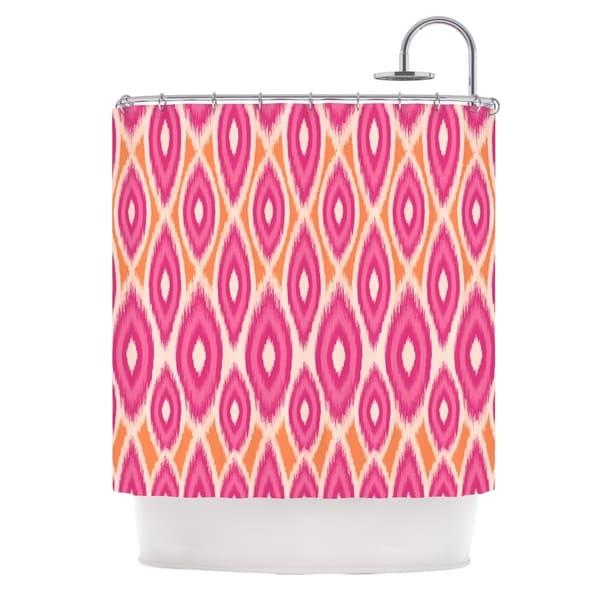 KESS InHouse Amanda Lane Pink and Orange Moroccan Magenta Tangerine Shower Curtain (69x70)