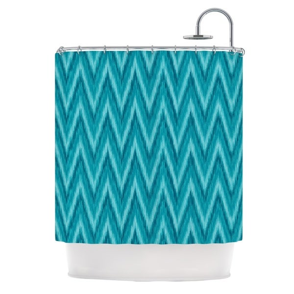 KESS InHouse Amanda Lane Island Blue Aqua Navy Shower Curtain (69x70)