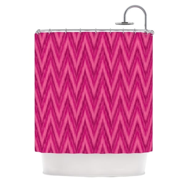 KESS InHouse Amanda Lane Berry Pink Chevron Magenta Purple Shower Curtain (69x70)
