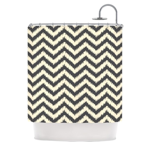 "KESS InHouse Amanda Lane ""Moonrise Chevron ikat"" Shower Curtain (69x70) - 69 x 70"