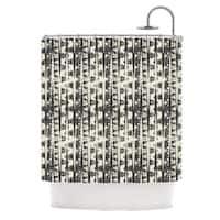 KESS InHouse Amanda Lane Black Cream Abstract Shower Curtain (69x70)