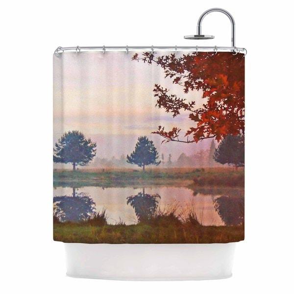 KESS InHouse Pellerina Design Magic Morning Red Nature Shower Curtain (69x70)