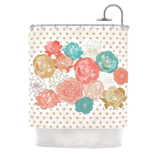 KESS InHouse Pellerina Design Spring Florals Blush Peony Shower Curtain (69x70)