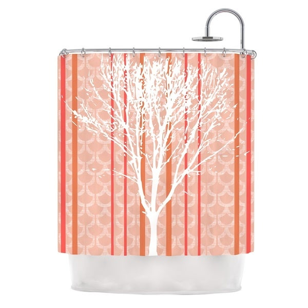 KESS InHouse Pellerina Design Spring Tree Orange Pastel Shower Curtain (69x70)