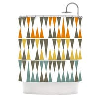 KESS InHouse Pellerina Design Diamond Kilim Triangles Shower Curtain (69x70)