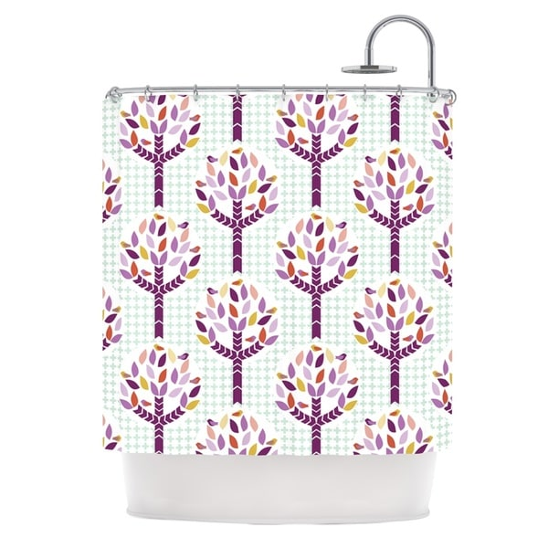 KESS InHouse Pellerina Design Orchid Spring Tree Purple Abstract Shower Curtain (69x70)