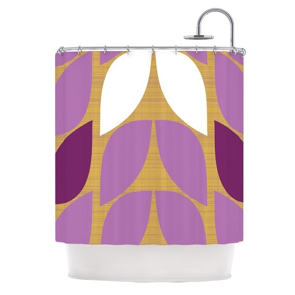 KESS InHouse Pellerina Design Orchid Petals Purple Tan Shower Curtain (69x70)