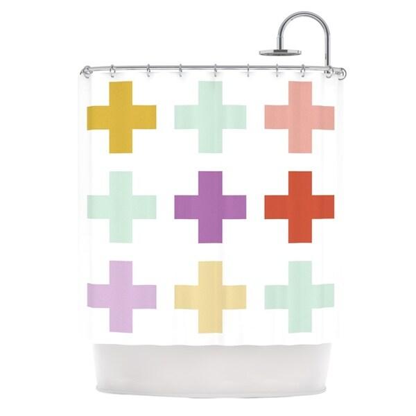 KESS InHouse Pellerina Design Mint Orchid Plus Multicolor Shower Curtain (69x70)