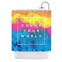 KESS InHouse Galaxy Eyes Color Your World Rainbow Paint Shower Curtain (69x70)
