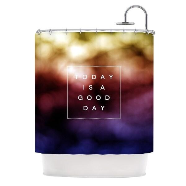 KESS InHouse Galaxy Eyes Good Day Rainbow Shower Curtain (69x70)