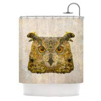 "KESS InHouse Ancello ""Abstract Owl"" Brown Shower Curtain (69x70) - 69 x 70"