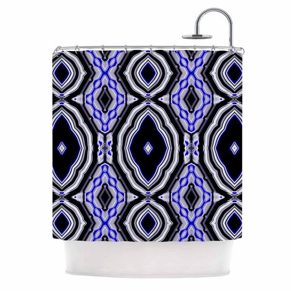 KESS InHouse Dawid Roc Inspired By Psychedelic Art 3 Purple Abstract Shower Curtain (69x70)