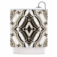 KESS InHouse Dawid Roc Inspired By Psychedelic Art 6 Brown Pattern Shower Curtain (69x70)
