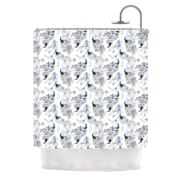 KESS InHouse Danii Pollehn Peacock Fun Shower Curtain (69x70)