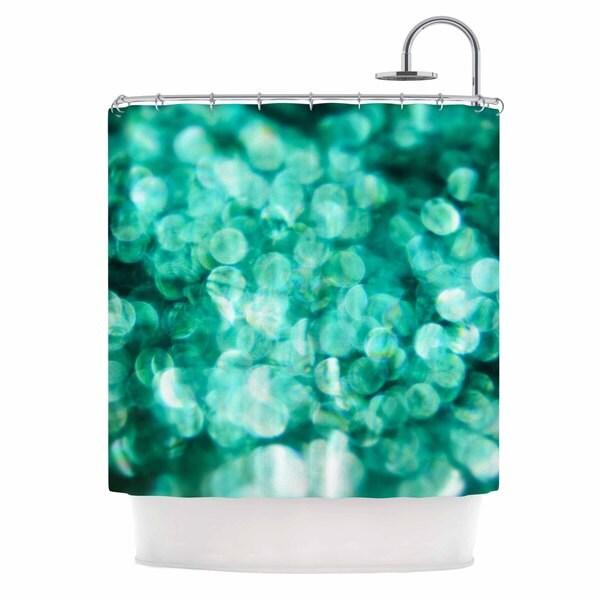 KESS InHouse Debbra Obertanec Teal Mayhem Green Black Shower Curtain (69x70)