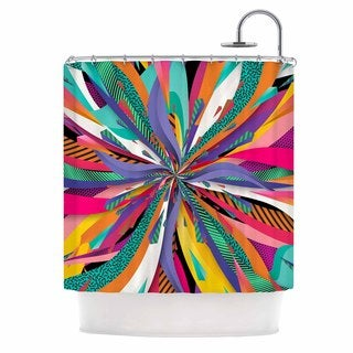 KESS InHouse Danny Ivan Pop Abstract Multicolor Shower Curtain (69x70)