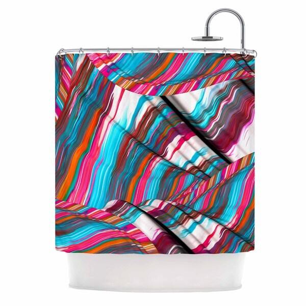 KESS InHouse Danny Ivan Long Live Blue Magenta Shower Curtain (69x70)