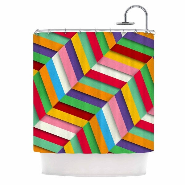 KESS InHouse Danny Ivan Excuse Me Multicolor Abstract Shower Curtain (69x70)