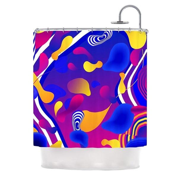KESS InHouse Danny Ivan Bubbles Blue Purple Shower Curtain (69x70)