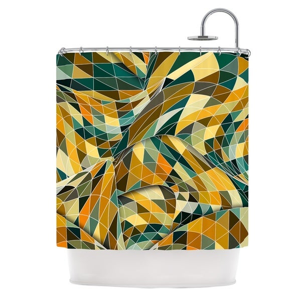 KESS InHouse Danny Ivan Bring You Back Yellow Teal Shower Curtain (69x70)