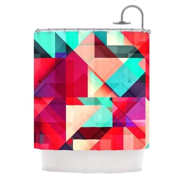 KESS InHouse Danny Ivan Still New Red Pink Shower Curtain (69x70)