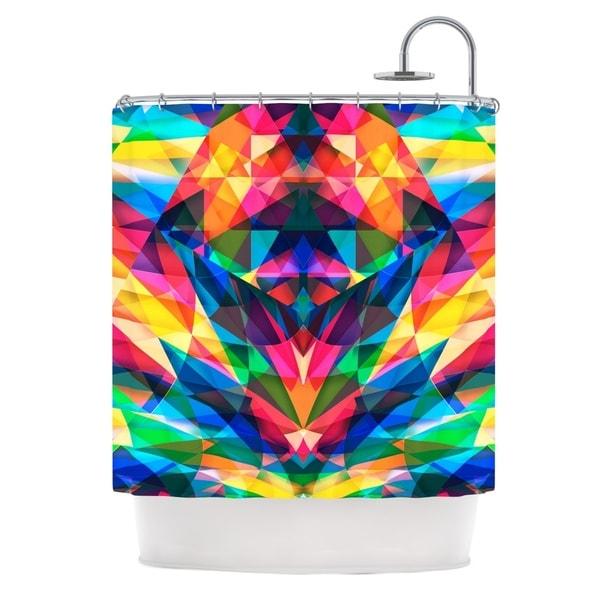 KESS InHouse Danny Ivan Day We Met Rainbow Geometric Shower Curtain (69x70)
