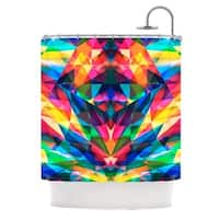 KESS InHouse Danny Ivan Day We Met Rainbow Geometric Shower Curtain (69x70)