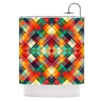 "KESS InHouse Danny Ivan ""Time Between"" Geometric Abstract Shower Curtain (69x70) - 69 x 70"