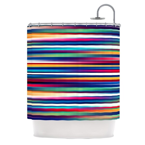 KESS InHouse Danny Ivan Blurry Lines Multicolor Shower Curtain (69x70)