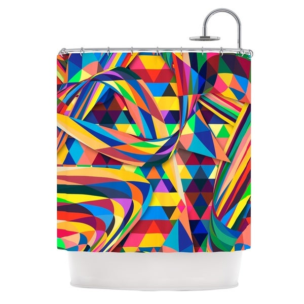 KESS InHouse Danny Ivan The Optimist Geometric Multicolor Shower Curtain (69x70)