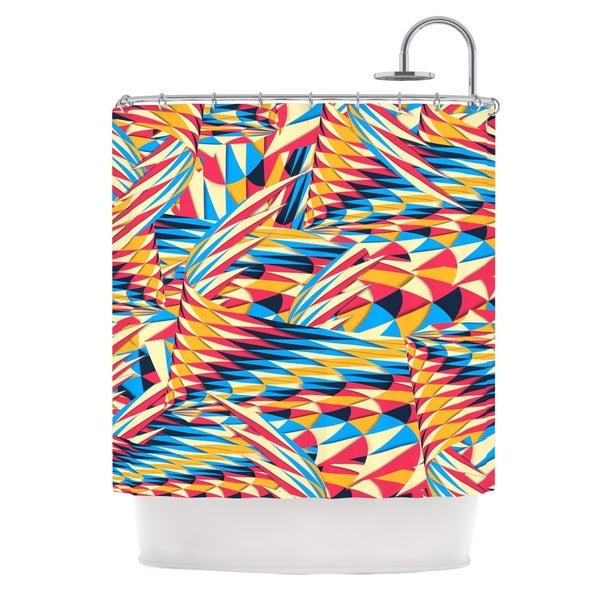 KESS InHouse Danny Ivan Painting Life Abstract Shower Curtain (69x70)