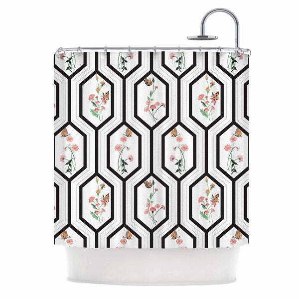 KESS InHouse DLKG Design Eden Black Gold Shower Curtain (69x70)