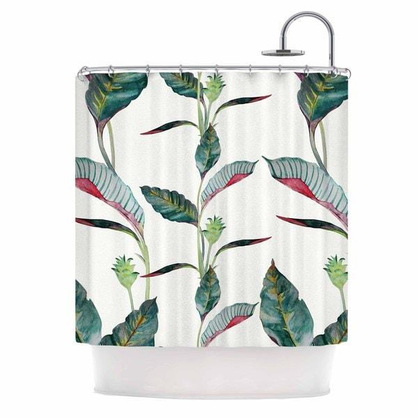 Shop KESS InHouse DLKG Design Ana Black Olive Shower Curtain 69x70