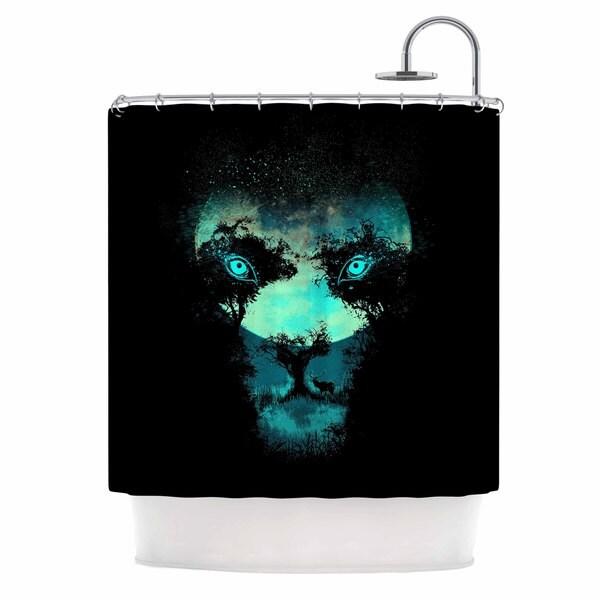 KESS InHouse Digital Carbine Silence Hunter Green Animals Shower Curtain (69x70)