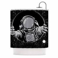 KESS InHouse digital carbine Black Hole Fantasy Digital Shower Curtain (69x70)