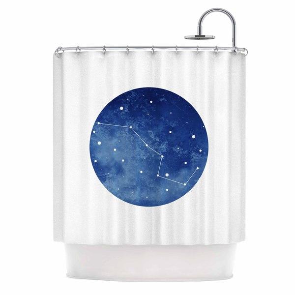 KESS InHouse Chelsea Victoria Ursa Major Blue Celestial Shower Curtain (69x70)