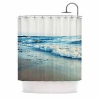 KESS InHouse Chelsea Victoria Beyond The Sea Blue Coastal Shower Curtain (69x70)