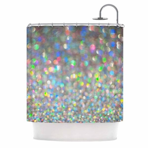 KESS InHouse Chelsea Victoria Sparks Fly Multicolor Digital Shower Curtain (69x70)