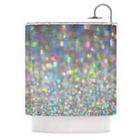 KESS InHouse Chelsea Victoria Sparks Fly Multicolor Digital Shower Curtain (69x70)