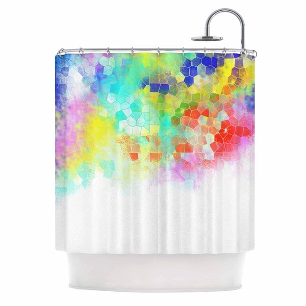 KESS InHouse Dan Sekanwagi Color Structure Colorful Abstract Shower Curtain (69x70)