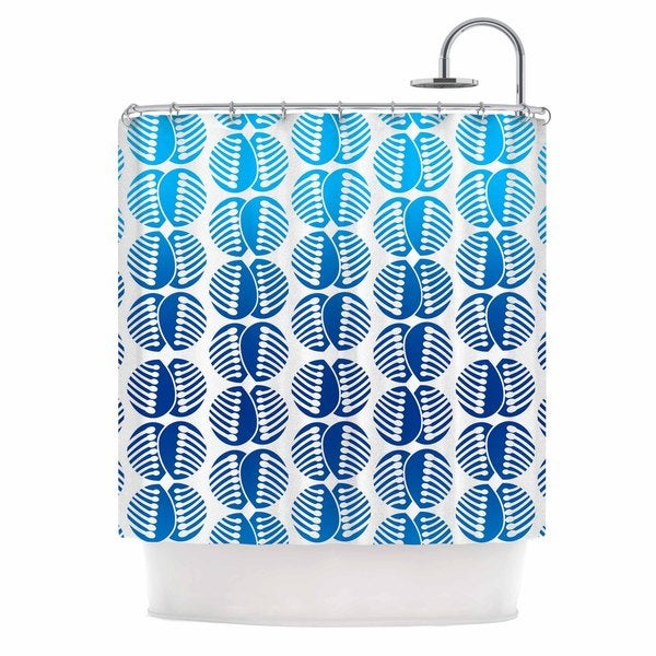 KESS InHouse Dan Sekanwagi Poddy Combs In Blue Blue Pattern Shower Curtain (69x70)