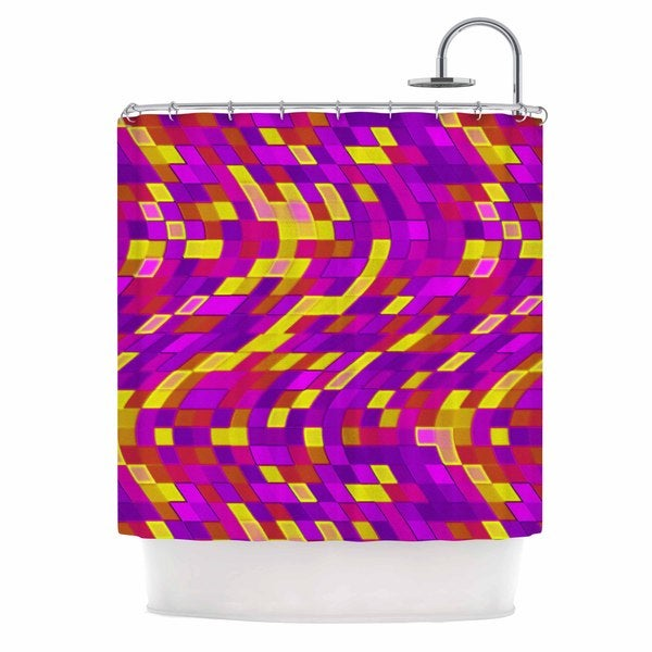 KESS InHouse Artist Name Geometric Movement -Tags Shower Curtain (69x70)