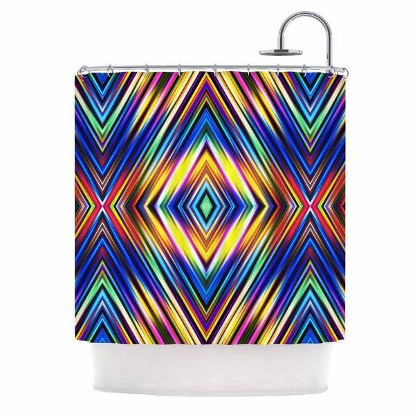 KESS InHouse Dawid Roc Multi Colors Modern Tribal Multicolor Tribal Shower Curtain (69x70)