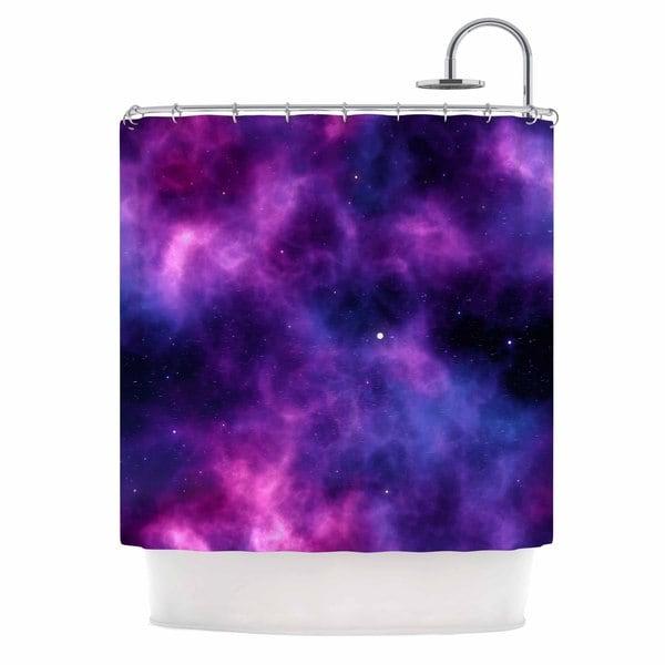KESS InHouse Chelsea Victoria Infinity  Purple Fantasy Shower Curtain (69x70)