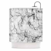 KESS InHouse Chelsea Victoria Marble No 2  Black Modern Shower Curtain (69x70)