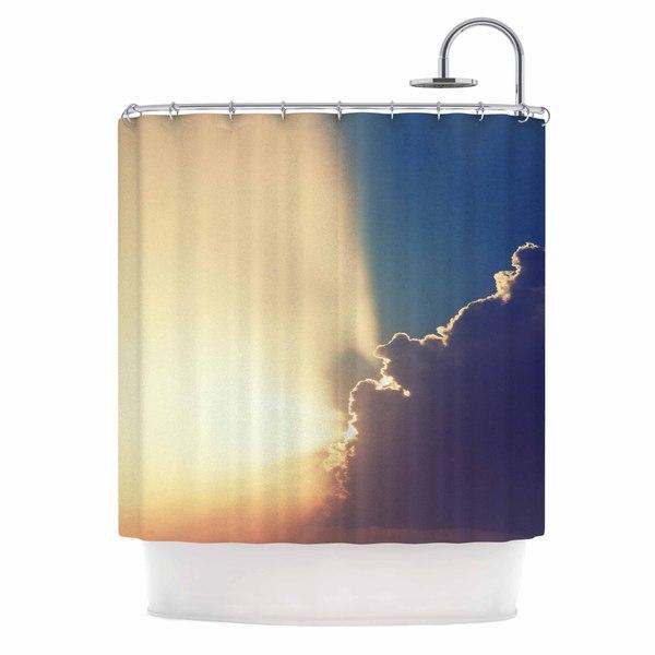 KESS InHouse Cvetelina Todorova After the Storm Yellow Blue Shower Curtain (69x70)
