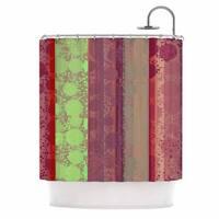 KESS InHouse Cvetelina Todorova Magic Carpet Green Maroon Shower Curtain (69x70)
