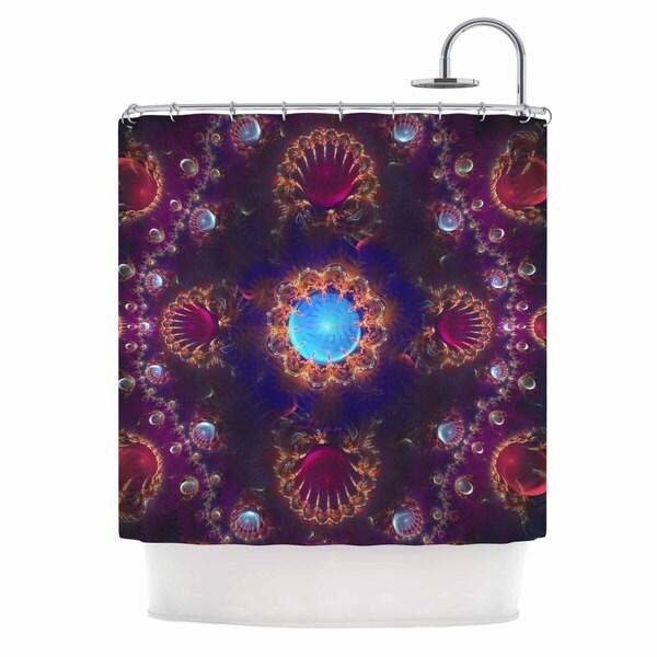 KESS InHouse Cvetelina Todorova Royal Jewels Purple Blue Shower Curtain (69x70)