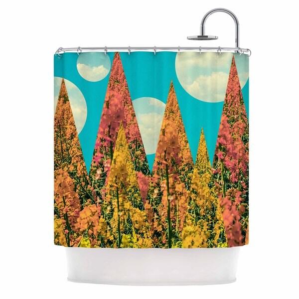 "KESS InHouse Cvetelina Todorova ""Day"" Multicolor Geometric Shower Curtain (69x70) - 69 x 70"
