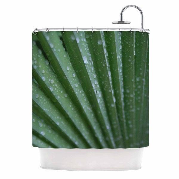KESS InHouse Cyndi Steen Green Palm Frond Green Nature Shower Curtain (69x70)